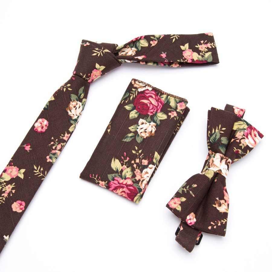 Tie XGVOKH Mens Skinny Fiore Rose wedding Pocket Piazza Fazzoletto Dell'arco di Farfalla Cravatte Cravatta Set Lotti corbatas para hombre