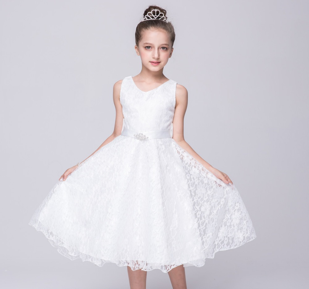 7 Colors Summer Baby Girl Dresses Child White Tulle Lace ...