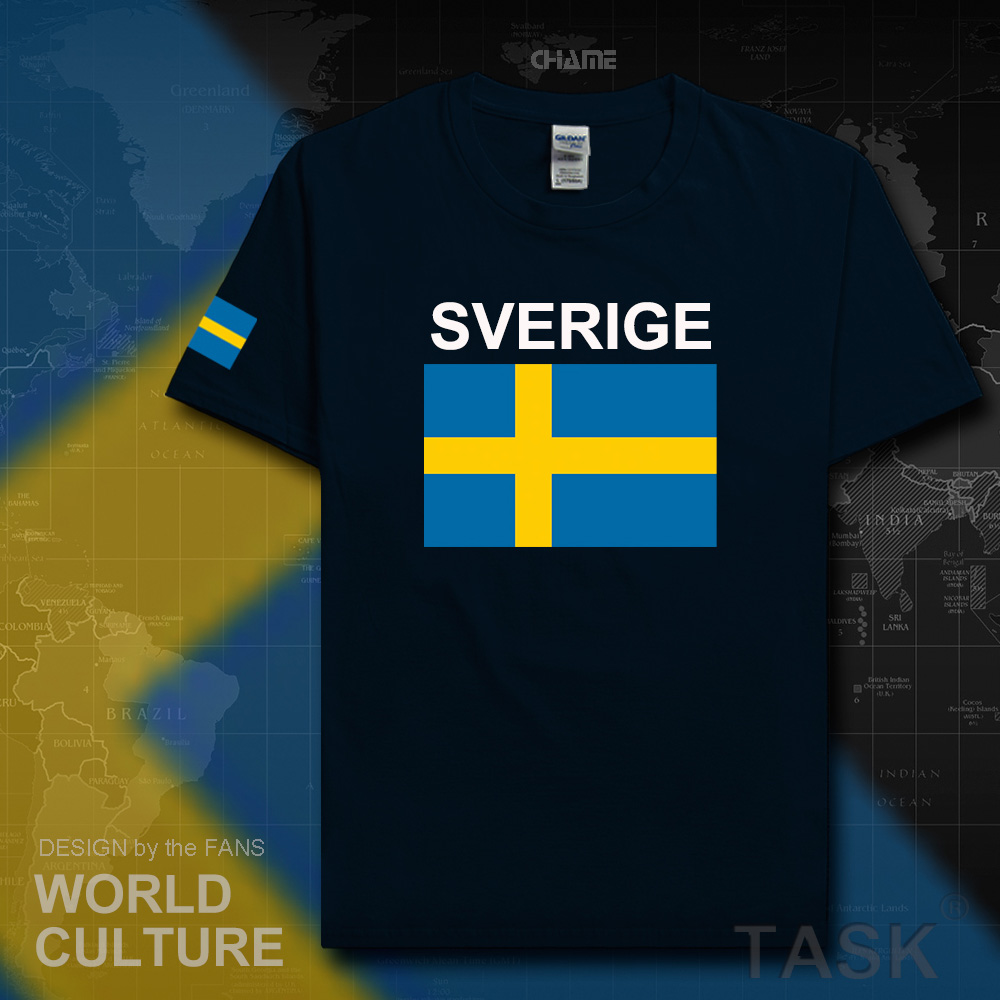 Sweden Sverige men t shirt Swedish Swede tshirt 2017 jerseys nation team t-shirt crossfit new tops gyms clothing tees country SE
