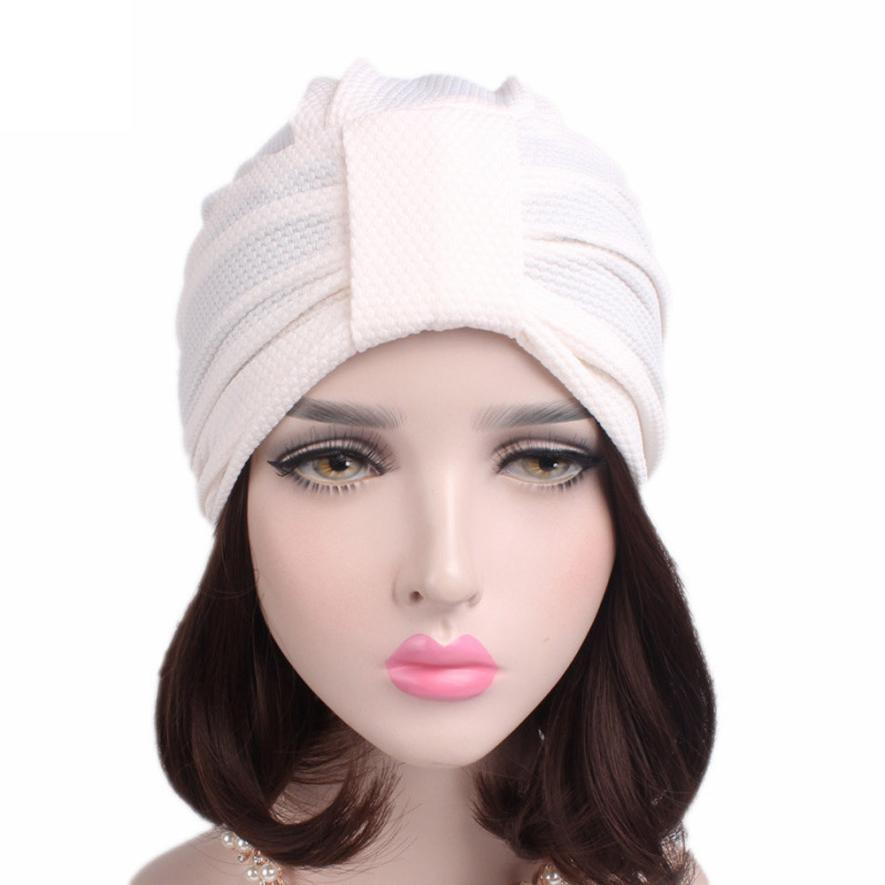 Women New Elastic Cap Turban Muslim Cancer Chemo Hat Beanie Scarf Turban Head Wrap Cap breathable mesh turban chemotherapy pain management among colorectal cancer patient on chemotherapy