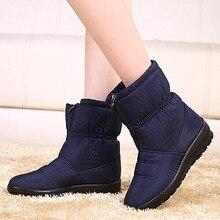 Mode Winter Frauen Stiefel Weibliche Wasserdichte Zip Stiefeletten Unten warmer Schnee Stiefel Damen Schuhe Frau Botas Mujer Plus Größe 35-42