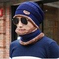 Atacado malha tampão do lenço neck warmer Inverno Baggy Gorros Chapéus Para mulheres Dos Homens Esporte Ao Ar Livre quente Chapéu de Lã Gorro de malha