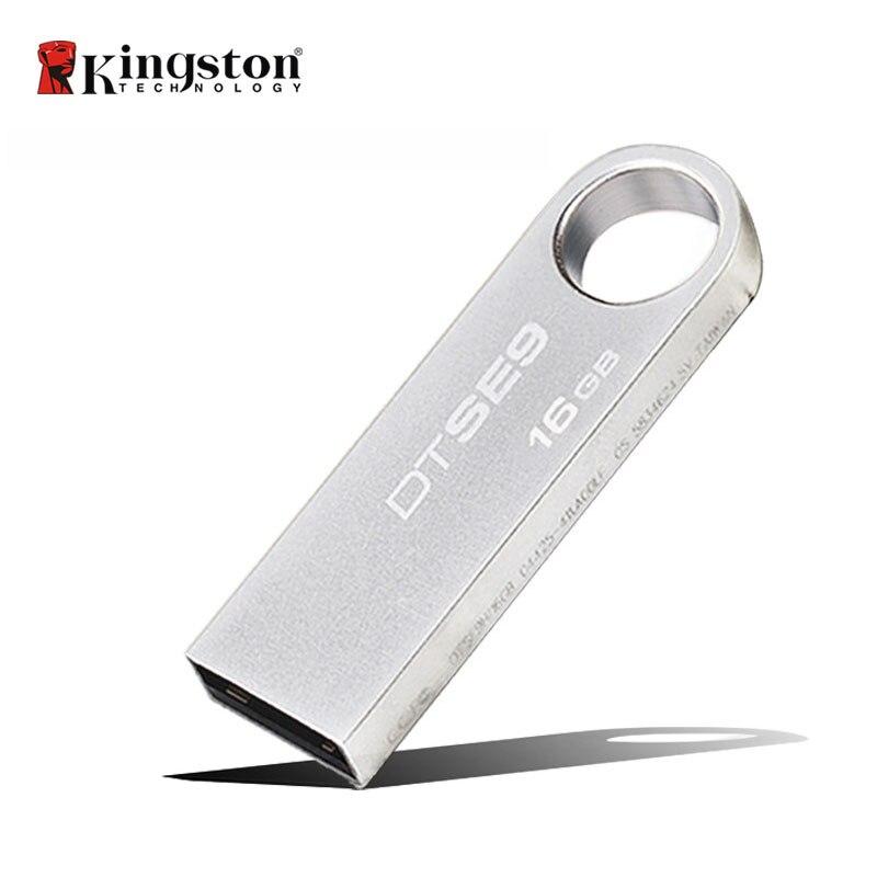 DTSE9 Kingston USB Flash Drive 16 gb Metallo Mini U Disk 32 gb di Archiviazione del Bastone Pendrive USB 2.0 Flash Memory caneta Memory Stick Unità