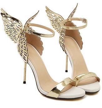 2017 Sophia Webster Butterfly Wings Women High Heels Bowtie Summer Shoes Sandals Woman Pointed Toe Ankle Strap Pumps