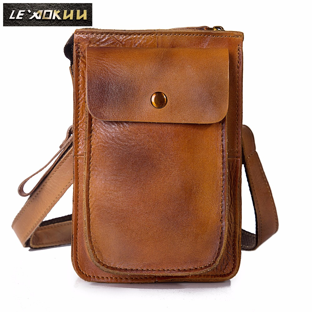 Quality Leather Multifunction Casual Daily Fashion Small Messenger One Shoulder Bag Designer Waist Belt Bag 6