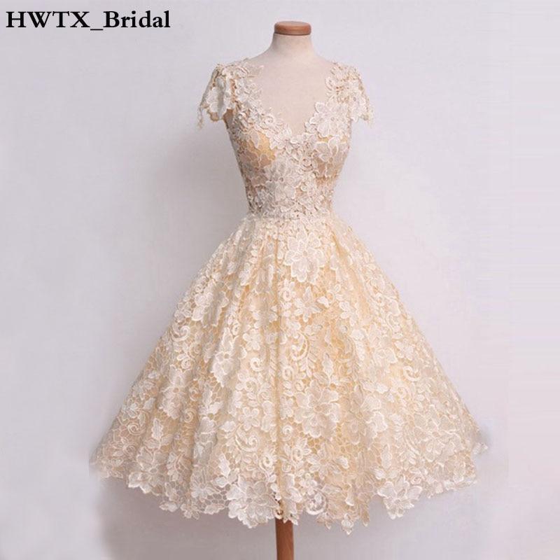 Champagne Lace Short Dress: Aliexpress.com : Buy Champagne Lace Short Bridesmaid