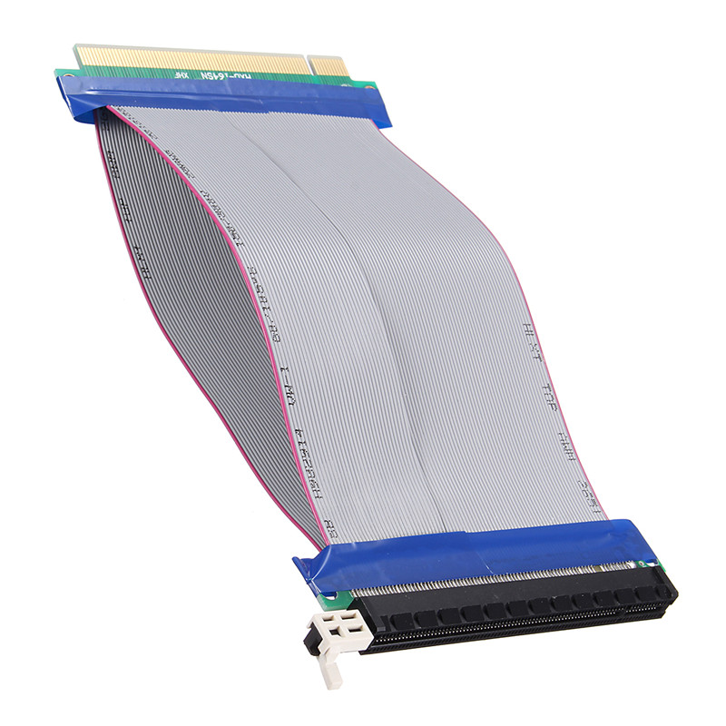 High Quality 19CM PCI E Express 16X To 16X Riser Card Flexible Ribbon Extension Cable Extender Ribbon Cable Converter Adapter pci express pci e 8x to 16x riser card extender ribbon cable 15 5cm