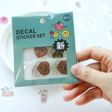 лучшая цена 36 Pcs/pack Cute Cartoon Handbook Stickers Diary Sticky Sticker Students' Decoration Label Stationery & Gift Papelaria