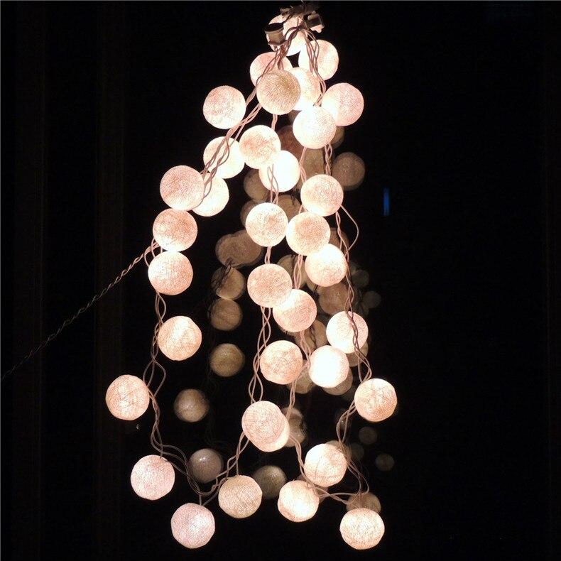 Lampe boule de coton lumières de noël télécommande LED lampe de poche festival célébration scène magasin lampe décorative chaîne - 4