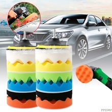 8Pcs 5 125mm Sponge Polishing Waxing Buffing Pads Kit For Auto Car Polisher New