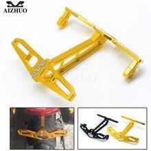 For Honda MSX125 GROM MSX300 MSX 125 MSX 300 Motorcycle License Plate Bracket Holder frame plate CNC Aluminum цена