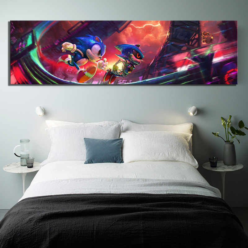 1 Piece Digital Art Painting Super Sonic Video Games Poster Sonic The Hedgehog Artwork Canvas Paintings Wall Art for Home Decor 3