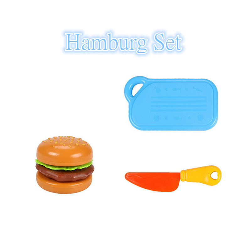 DIY Children 39 s Kitchen Toys Kids Play House Plastic Toy Hamburg Bread Cakes amp Hotdog Cake Food Toys set Early Education Kids Gifts in Kitchen Toys from Toys amp Hobbies
