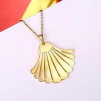 Factory Price High Quality Jewelry European And American Fashion 925 Silver Fan Pendant Classic Style Ladies