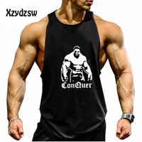 Musculation Vest Bodybuilding Brand Clothing And Fitness Men Undershirt Solid Tank Top Men Blank Golds Male