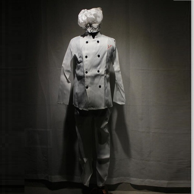 4cb19182f3d Big Chef Cook Kitchener Play Costume Top Pants hat Horrific White Cloth for  Holiday Festival Party Ball