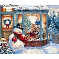 Diamond Embroidery Santa Christmas Tree DIY Diamond Painting Cross Stitch Picture Rhinestones Full Square Diamond Mosaic