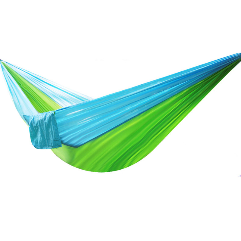 Single-person Hammock With Stable Carabiner Outdoor Furniture Garden Hang Bed Picnic Travel Camping Swing Indoor Sleeping