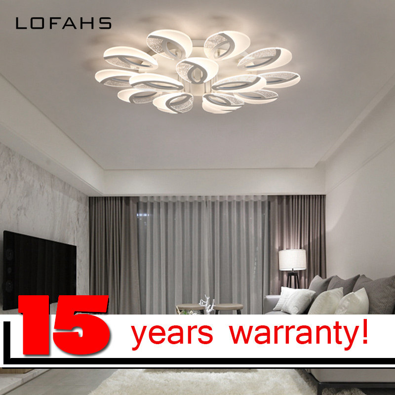 LOFAHS Modern LED ceiling lights for living  dining room bedroom  with remote control eye acrylic ceiling lamp fixtures noosion modern led ceiling lamp for bedroom room black and white color with crystal plafon techo iluminacion lustre de plafond