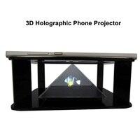 Голографический 3D-проектор для телефона, дисплеер с 3D экраном, инструмент для 3d