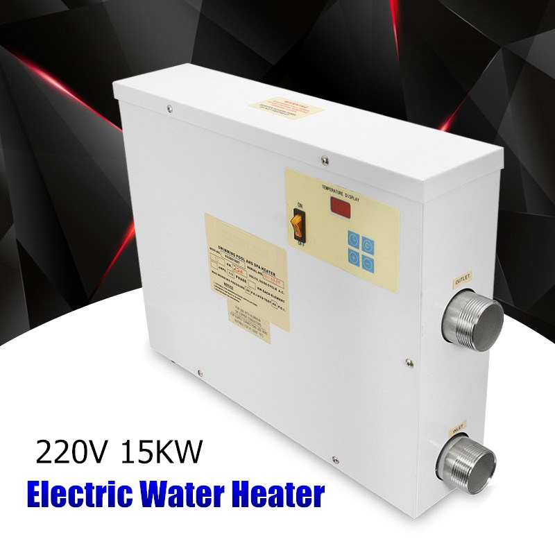 Top SPA Heater 15KW 220V Electric Swimming Pool and SPA Bath Heating Tub Water Heater Thermostat 220V Swimming Pool Accessories 3kw 220v stainless steel heater element for lx h30 rs1 spa heater and hot tub theater