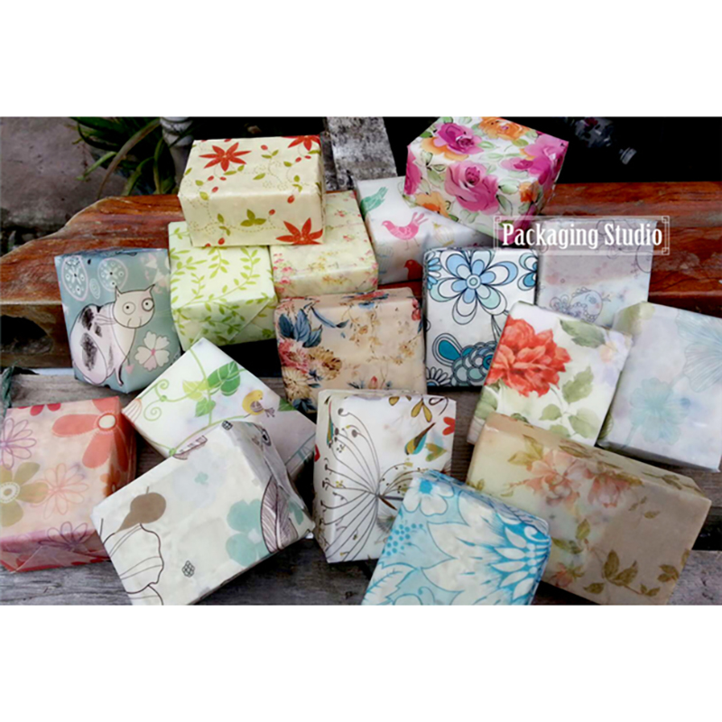 Free Shipping 13*21cm Multi-patterns Gift Wrapper Handmade Soap Wrapping Paper Oil Wax Packaging Papers