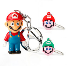 Super Mario Key Chains Women Men Fashion Trinket Cartoon Pendant Keychain Bags Backpack Key Buckle Gift(China)