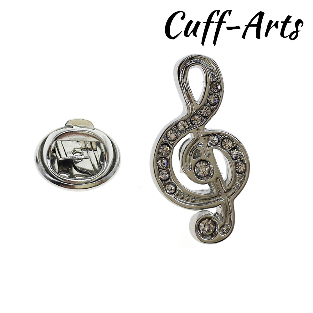 Gold Plated Treble Clef Quality Enamel Pin Badge