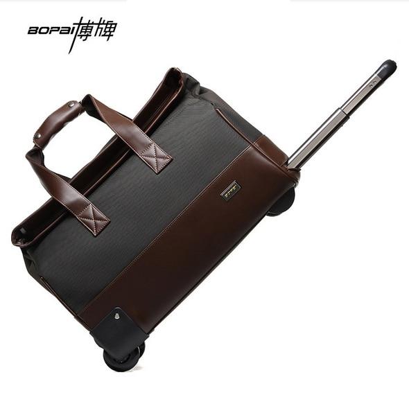 Waterproof Trolley Luggage Men Travel Bags Black Brown Travel Bag Women Luggage Bag Weekend Duffle Bag maletas de viaje women