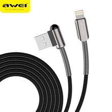 Awei  mobile phone data line 2.4A safe and fast Fiber woven charging quick for apple