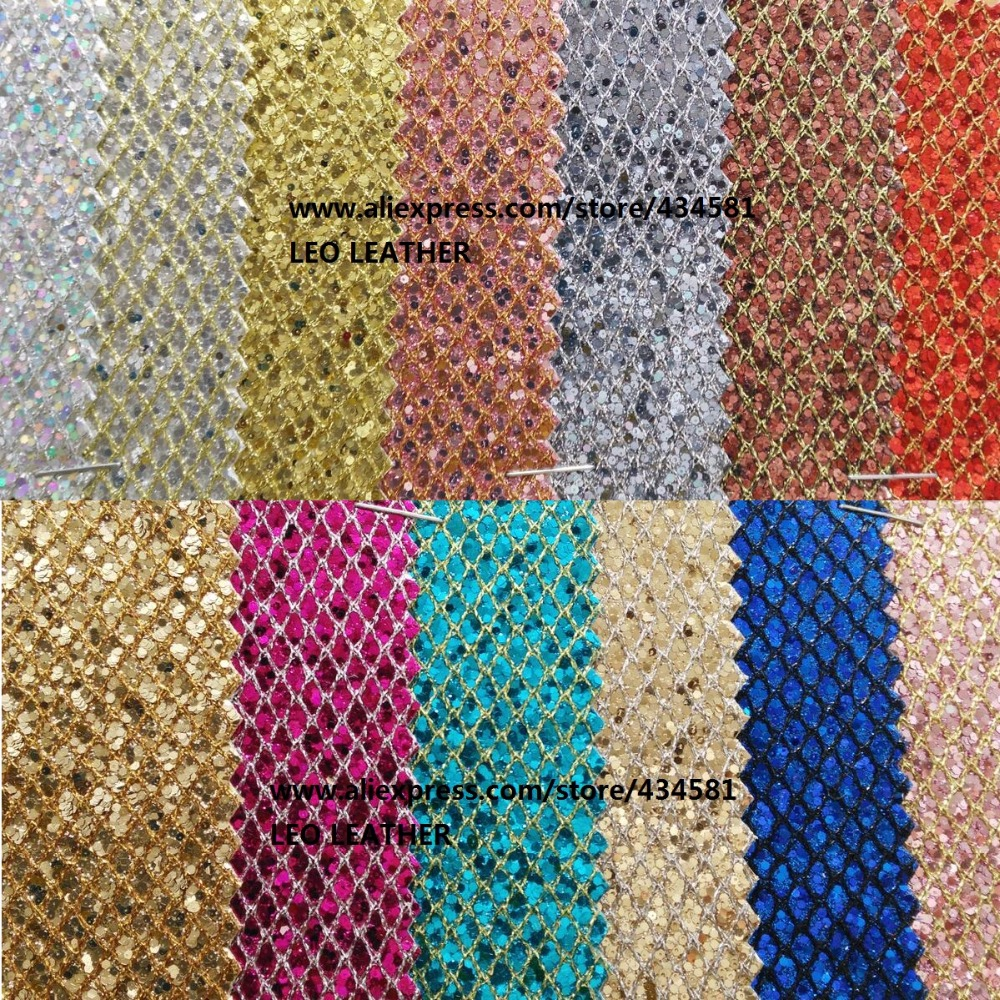 Fish scales glitter fabric synthetic leather for diy for Fish scale fabric