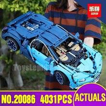 DHL Lepin 20086 Série Technic Toy Compatível com LegoINGlys 42083 Definir Blocos de Construção de Tijolos Crianças Presente Modelo de Carro de Corrida Azul