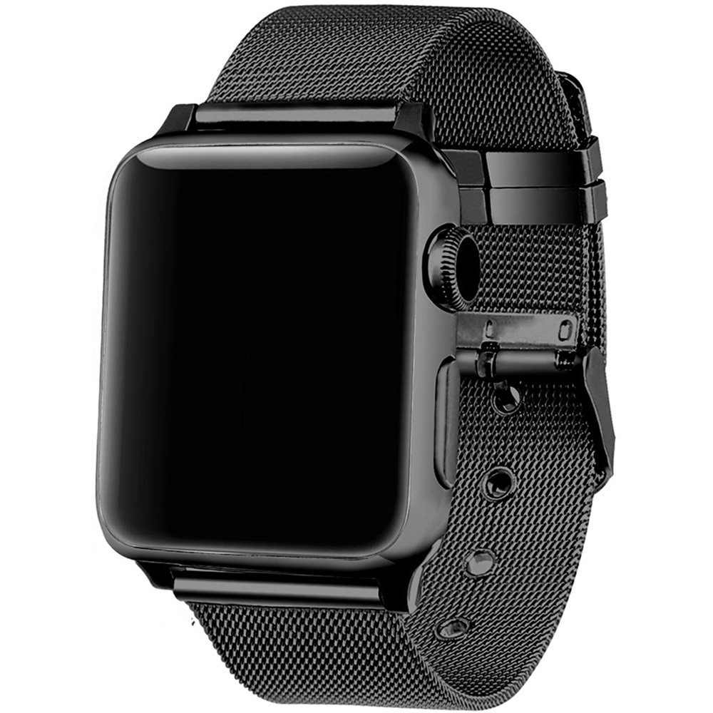 FOHUAS milanese loop for apple watch Series 3 2 1 replacement bracelet band iwatch stainless steel strap buckle with connector