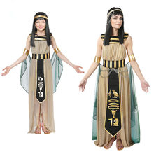The Ancient Egyptian Pharaohs Women Cosplay Dress Kids Adult Female Egyptian Costumes Princess Queen Halloween Clothing(China)