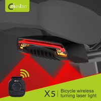 Meilan X5 Wireless Bike Rear Light Bicycle Laser Tail Lamp Smart USB Rechargeable Cycling Light Remote Turn Led Lamp