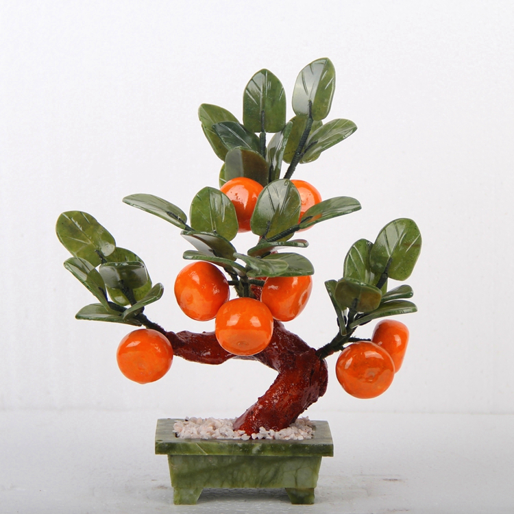 Jade pot small 8 orange tree living room decorations of jade ornaments Home Furnishing crafts creative gifts xinqite home furnishing ornaments product suspension globe round 3 inch 85mm blue english version of the spot