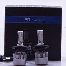 2X S2 H4 CSP LED Headlight 72W 8000LM Car Headlights Bulb Fog Light 6500K 12V