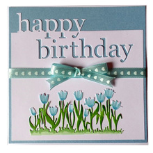 English Word Happy Birthday Metal Cutting Dies Scrapbooking Craft Dies Cuts Embossing Paper Cards Making Gift for Birthday Party