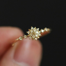 HOMOD 2019 New Cute Womens Snowflake Rings Female Chic Dainty Party Delicate Wedding Jewelry Gifts