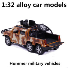 1:32 alloy cars,high simulation Hummer military vehicles,toy vehicles,metal diecasts,pull back & flashing&musical,free shipping