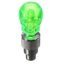 2X Tapa de la Válvula del Neumático de la Rueda LED Lámpara de Luz para Bicicleta de La Motocicleta Del Coche, verde