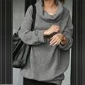 Autumn Winter Fashion Plus Size M-3XL camisolas Sweatshirt Women Rockabilly Casual Gray Blak Solid Hoodie