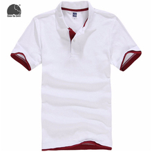 EnjoytheSpirit Polo Shirts Men's Hot Men Solid Color Short-sleeved Polo Shirt Fashion Casual Style New Brand White Male Clothes