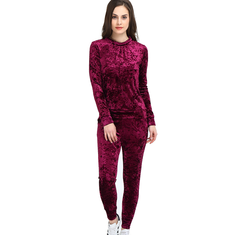 BleamFly Women Two Piece Set Female Tracksuit Top Pants
