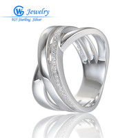 Clear CZ Rings Jewelry New Design Silver Jewelry 925 Sterling Silver Rings For Women GW Fine