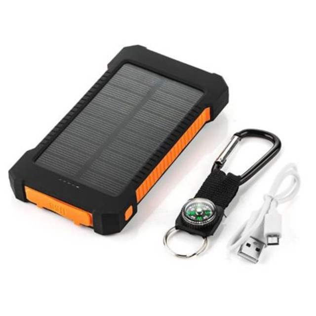 6000-7000 mAh Büyük Kapasiteli güneş enerjisi bankası Çift USB Taşınabilir Güneş pil şarj cihazı Evrensel Cep Telefonu Şarj Cihazı Güneş Hücreleri