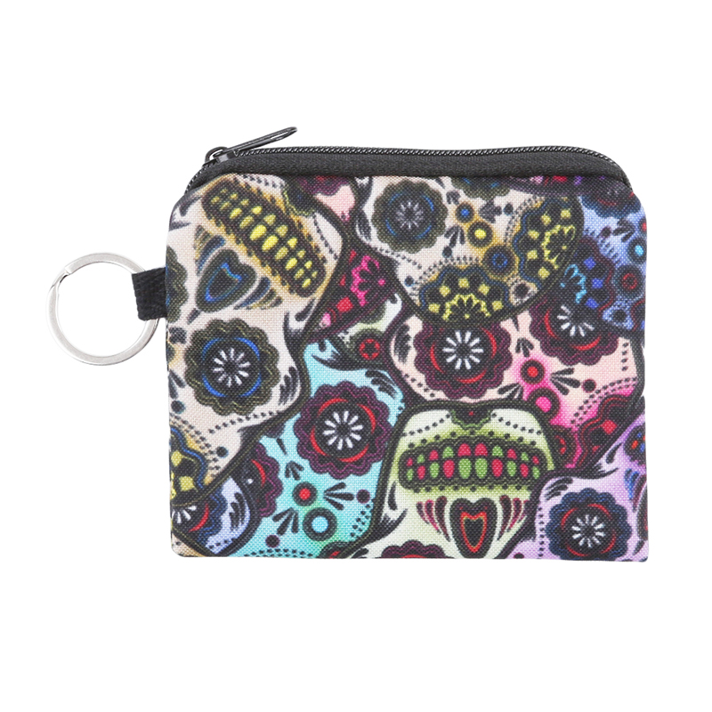 Wallet Pouch Coin Purse Mexican Polyester Mini Print Women Skull 3D Fashion Multifunctional