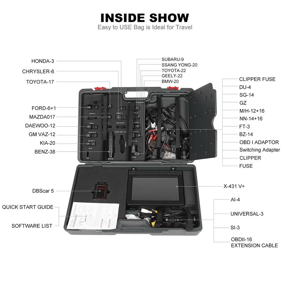Image 5 - Launch X431 V + V Plus 10,1 дюймов авто диагностические инструменты полная система OBD2 автомобильный сканер Профессиональный Автомобильный сканер PK X 431 Pro3-in Анализатор двигателя from Автомобили и мотоциклы on