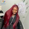 Sevengirls 99J Color Pre Plucked BOB Full Lace Human Hair Wigs For Black Women Brazilian Straight Short Human Hair Wigs