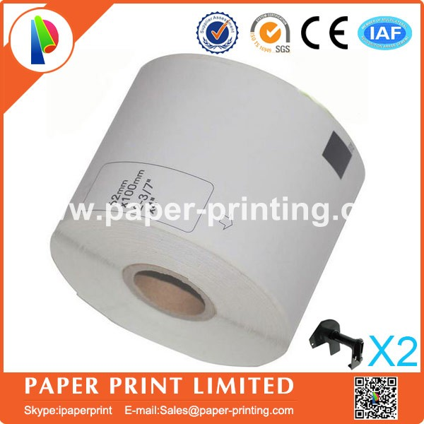 50 Refill Rolls Compatible DK-11202 Label 62mm*100mm 300Pcs Compatible for Brother Label Printer White Paper DK11202 DK-1202